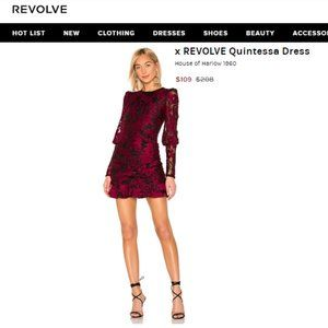 NEW House of Harlow 1960  Quintessa Dress Red S